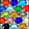 glittrande strasstenar av glas