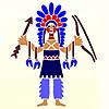 Indianerna väggdekor schabloner i barnrum