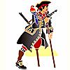 Pirater väggdekor schabloner i barnrum